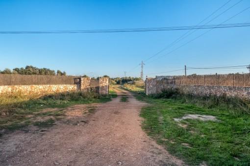 Ansicht von der Mauer