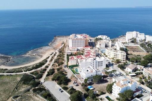 Blick zur Bucht