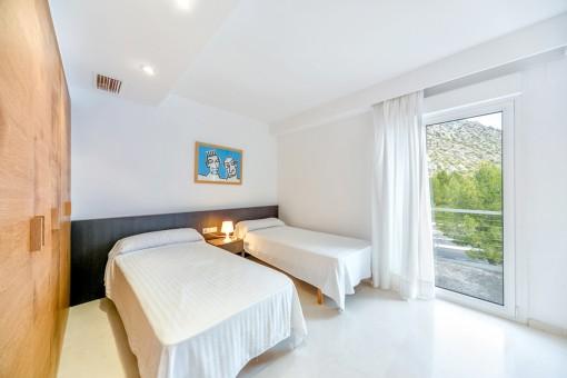 Das Penthouse bietet 4 Schlafzimmer
