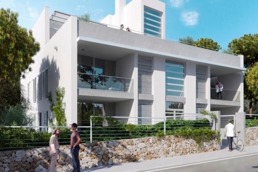 Traumhaftes Duplexapartment zum Erstbezug in unmittelbarer Strandnähe in Colonia St. Jordi