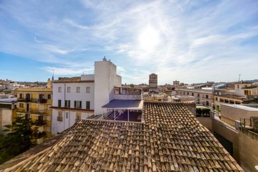 Fantastischer Ausblick über die Dächer von Palma