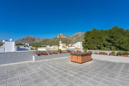 Alternative Ansicht der Dachterrasse