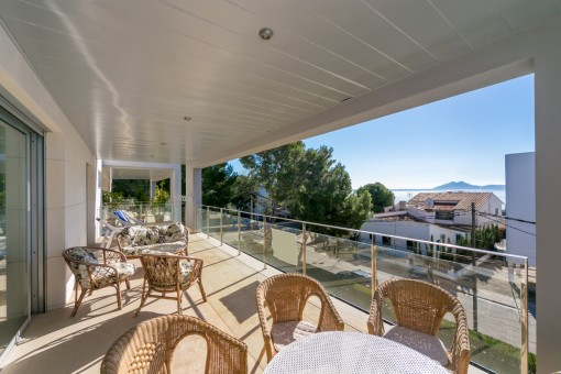 Modernes Penthouse in einer exklusiven Wohnanlage mit Meerblick in Puerto Pollença
