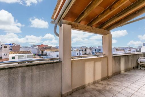Penthouse mit schönen Ausblick in zentraler Lage von Puerto Pollença
