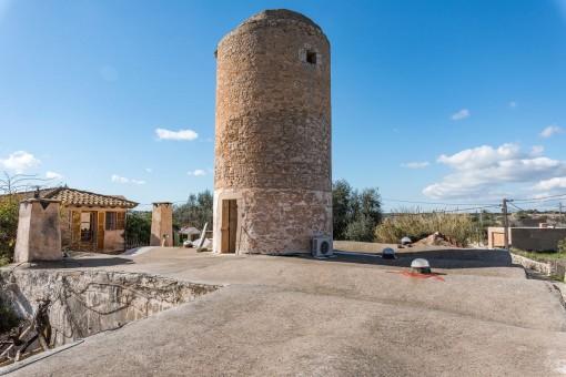 Der höchste Punkt des Turmes bietet einen herrlichen Blick über Santanyi