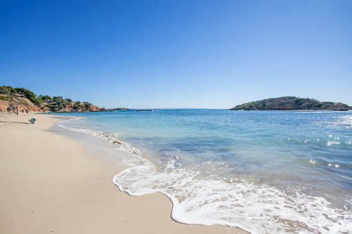 Der schöne Strand von Puerto Portals liegt auch in der Nähe