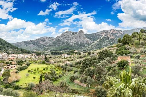 Beeindruckender Panoramablick über die Landschaft