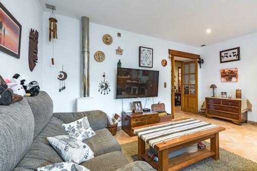 Die Wohnung strahlt eine Wohlfühlatmosphäre aus