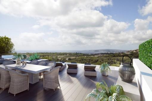 Malerischer Ausblick vom Balkon