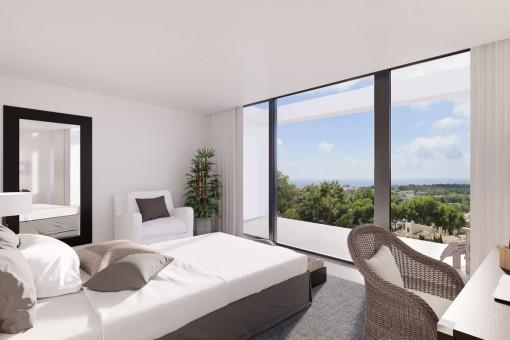 Doppelzimmer mit Panoramafenstern
