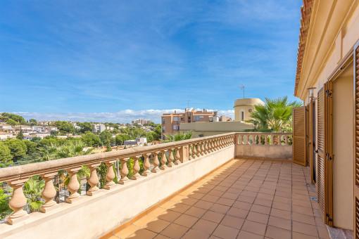 30 qm Balkon mit herrlichen Ausblick