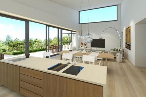Modernes und lichtdurchflutetes Wohnkonzept