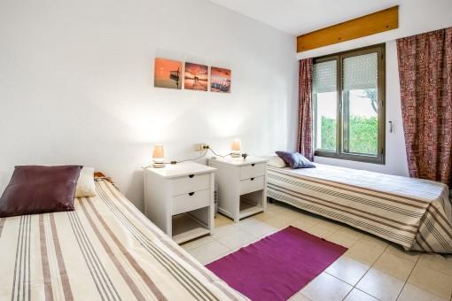 Gästeschlafzimmer des Apartments