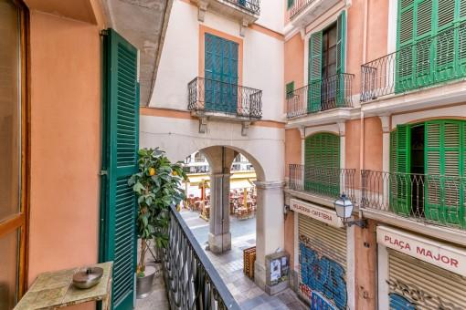 Einer der 5 Balkone