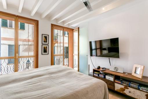 Eines der Schlafzimmer mit Badezimmer en Suite