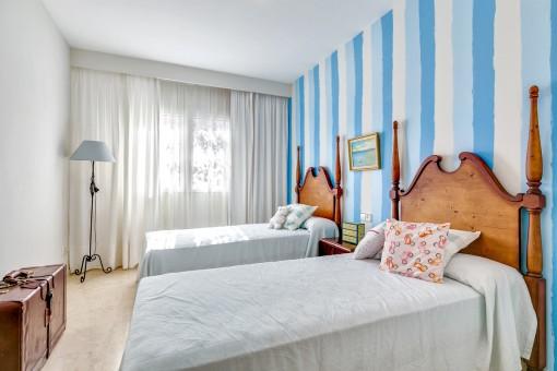 Herrliches Schlafzimmer mit 2 Einzelbetten