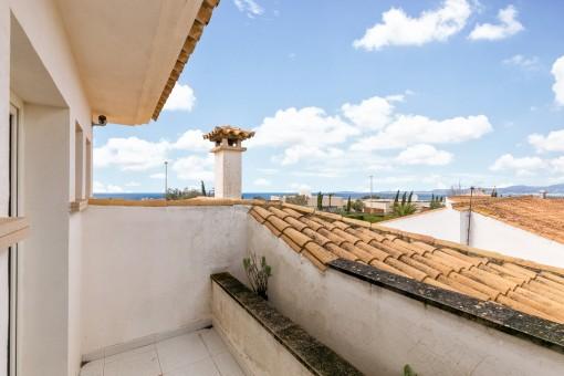 Toller Meerblick von der oberen Terrasse aus