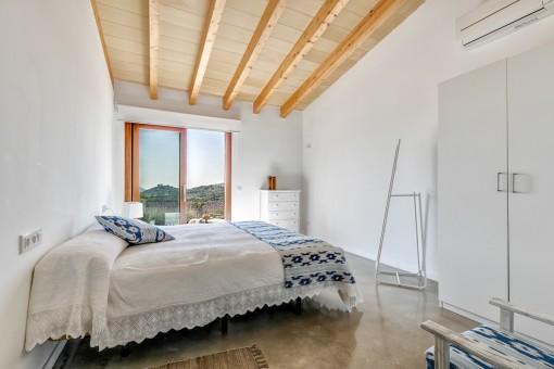 Charmante Holzbalken an der Decke