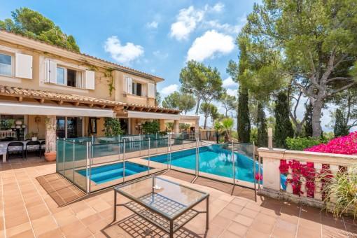 Herrliche Villa mit Meerblick in Costa d'en Blanes