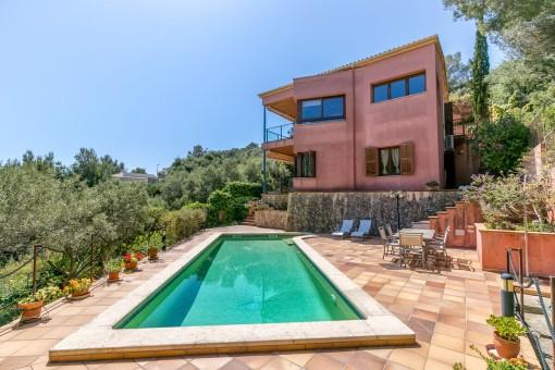 Spektakuläre Villa mit Panoramablick auf das Meer und Ferienvermietungslizenz in Son Servera