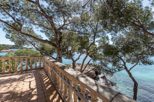 Alternative Ansicht vom Balkon