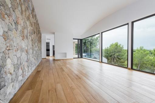 Herrliche Panoramafenster im Wohnbereich