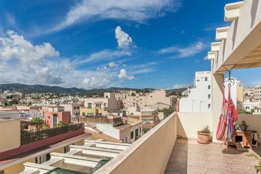 Kleine Wohnung mit toller Terrasse in Palma