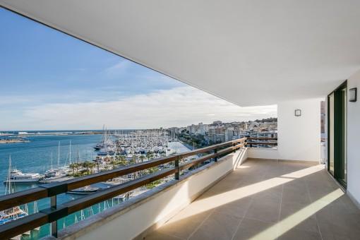 Fantastisches Apartment am Paseo Marítimo mit Blick auf Palmas Bucht und Kathedrale