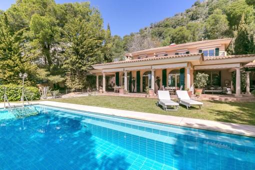 Beeindruckende Finxa mit Meerblick im Nordosten Mallorcas, in Costa de los Pinos
