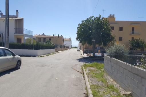 Straße zum Strand