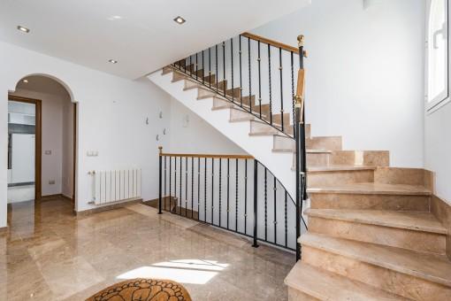 Treppenaufgang der Finca