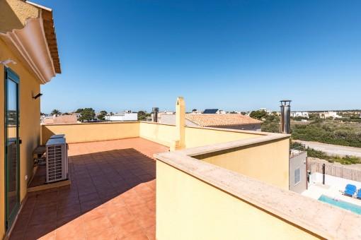 Ansicht des Balkona