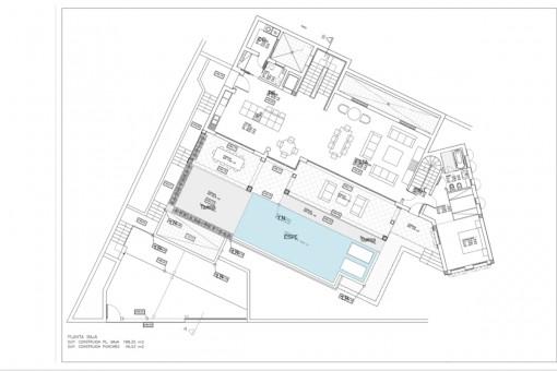 Bauzeichnung vom Erdgeschoss