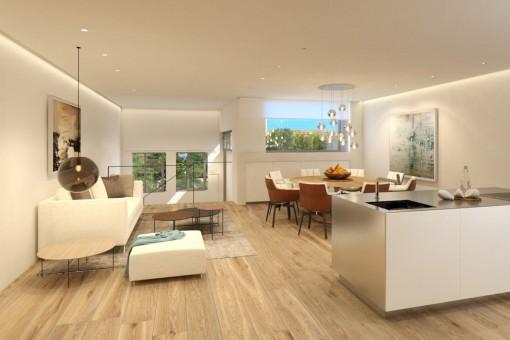 Exklusive Maisonettewohnung in Santa Catalina mit privatem Patio