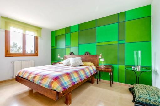 Eines von 4 Schlafzimmer mit Tageslicht