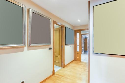 Die Wohnung hat eine Wohnfläche von 230 qm