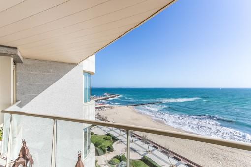 Atemberaubender Blick zur Strandpromenade