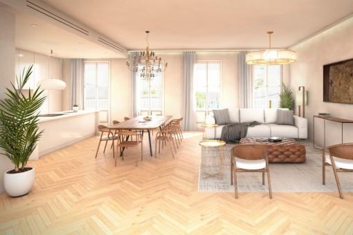 Das hochwertige Objekt bietet eine Wohnfläche von 197 qm