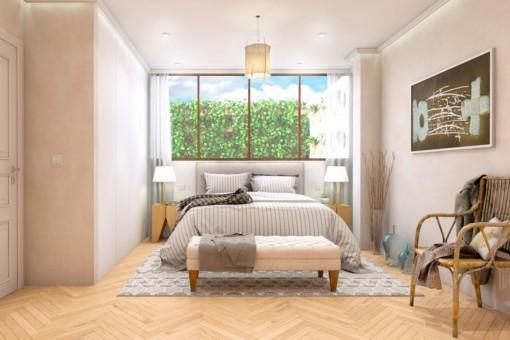 Eines von 3 komfortablen Schlafzimmern