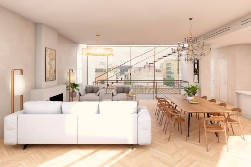 Das hochwertige Objekt hat eine Wohnfläche von 156 qm