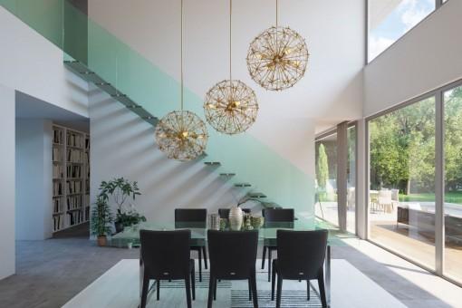 Gläsernes Treppengeländer