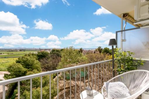 Schöne Wohnung mit viel Tageslicht und unverbauten Blick in Portixol / Molinar