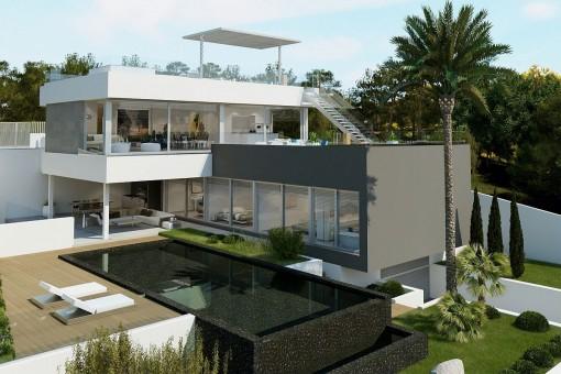 Moderne Neubau-Traumvilla in Nova Santa Ponsa