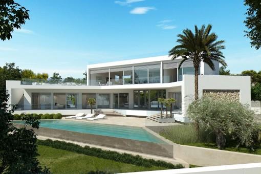 Traumvilla mit Meerblick im modernen Baustil in El Toro