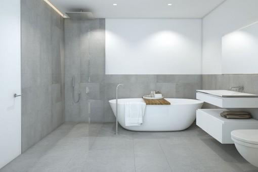 Modernes Design der Badezimmer
