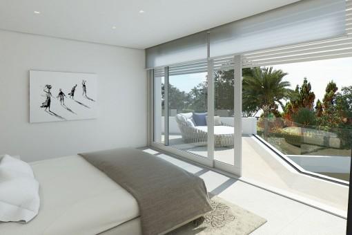 Gästezimmer mit Balkonzugang