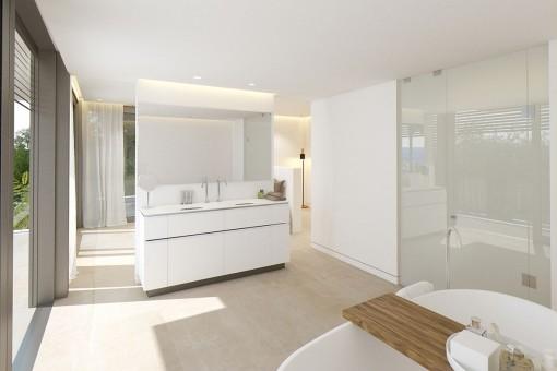 Das offene Badezimmer en Suite