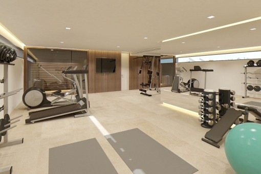 Privater Fitnessbereich