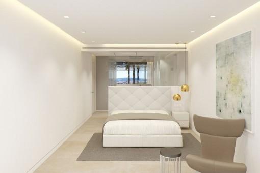 Die Schlafzimmer befinden sich alle im unteren Stockwerk