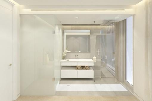 Hochmodernes en Suite Badezimmer
